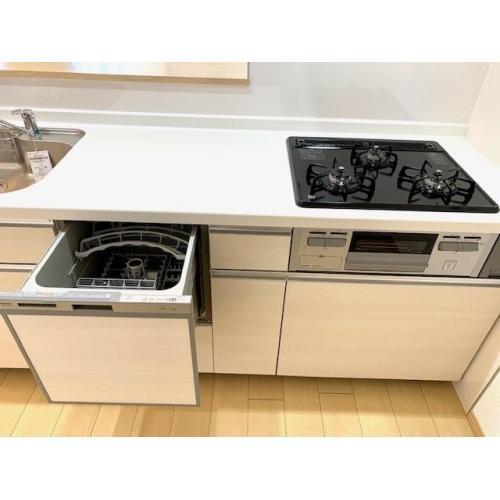 スライド式食洗洗い乾燥機、シングルレバーシャワー水栓